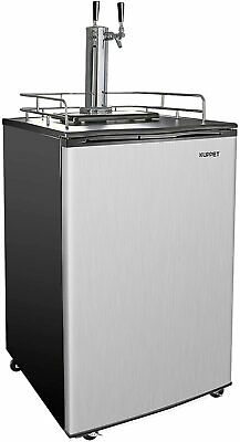 6.0 Cu Ft Full Size Kegerator Draft Beer Dispenser Cooling Dual-tap Refrigerator
