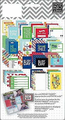 me & my BIG ideas Pocket Pages Journaling Themed Cards 72 pieces a seal packet (Themed Ideas)