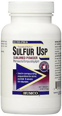 Humco Sulfur Powder Usp 4oz Factory Sealed - Package Style May Vary