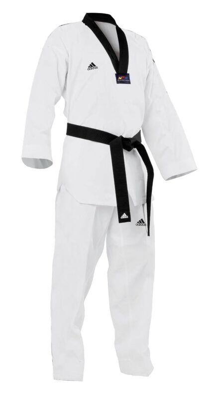 adidas Taekwondo WTF Approved Uniform Dobok Black-V