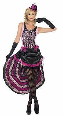 Burlesque Beauty French Can Can / Saloon Girl Pink & Black Costume Dress - Burlesque Beauty Kostüm