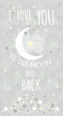 Moon and Dinosaur I Love You To The Moon /& Back White Canvas .75in