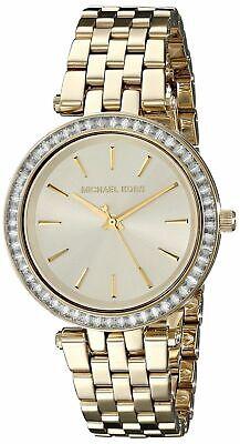MK3365 - New Michael Kors Gold-Tone Mini Darci Gold Tone Crystal Women's Watch