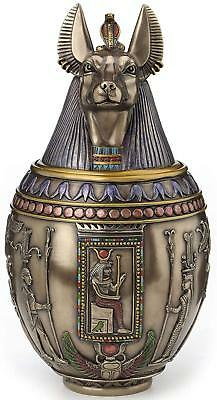 Egyptian God Anubis Dog Puppy Memorial Urn Canopic Jar - *THOUGHTFUL GIFT*