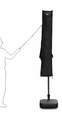 Schutzhülle für Ampelschirm Sonnenschirm Schirm Schutzhaube Hülle Schwarz Ø 3m Schwarz Sonnenschirm