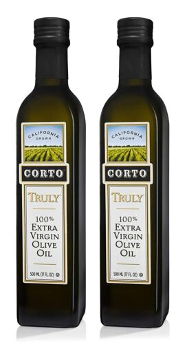Corto Truly 100% Extra Virgin Olive Oil 17 Fl. Oz/Each (Pack 2)