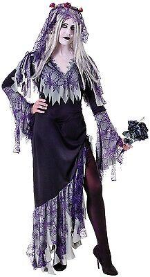Damen Zombie Corpse Bride Tot Scary Halloween Kostüm - Damen Corpse Bride Halloween Kostüm
