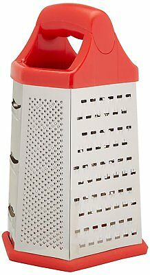 Uniware 70917  Stainless Steel 6 Sided Cheese Grater Shredder,9 inch