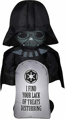 3 1/2' Gemmy Airblown Inflatable Disney Star Wars Darth Vader w/ Tombstone