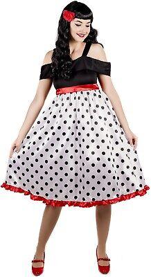 Damen Sexy 1950er Jahre Rebel Kostüm Kleid Outfit UK 8-26 Übergröße
