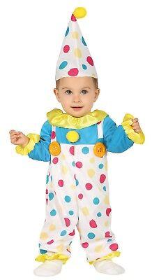 Baby Jungen Mädchen Bunt Gepunktet Clown Zirkus Karneval Kostüm - Bunte Junge Clown Kostüm