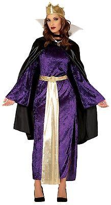Damen Böse Königin Märchen TV Buch Film Halloween Kostüm Kleid Outfit ()