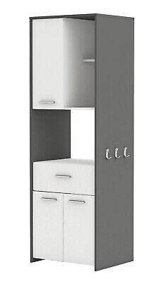 Hochschrank COUSINE 817 Küchenschrank Küchenregal Buffetschrank weiß grau Tür
