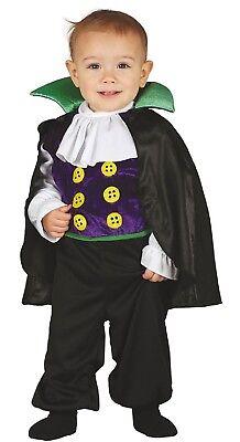 Baby Jungen Kleiner Vampir Halloween Kostüm Kleid Outfit 6-12-24 Monate
