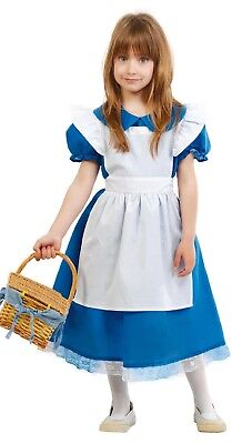 Girls Blue Traditional Goldilocks Alice Book Day Fancy Dress Costume Outfit 5-12 - Traditional Alice In Wonderland Costume