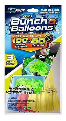 Zuru Bunch O Balloons Pack of 100, Self-tying Water Ballon Bombs Summer Outdoor