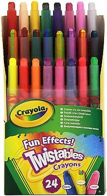 Crayola Twistables Fun Effects Crayons - Pack of 24 Non Toxic Rainbow Colours