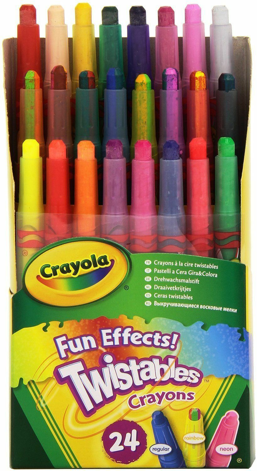 crayola twistables fun effects crayons pack of 24 non toxic