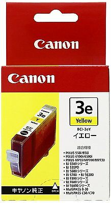 Canon BCI-3eY Yellow Inkjet Cartridge 4482A001[AB] Genuine /Expiration11/2011