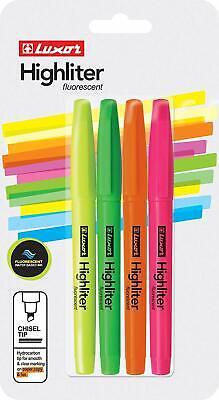 Fluorescent Highlighter Multicolor 4 Pk. Blister
