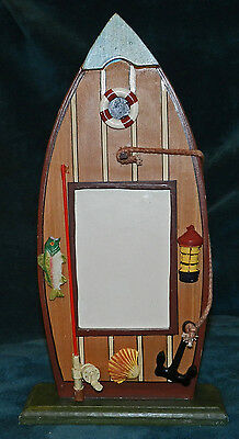 Affecting FISHING THEME ROW BOAT PICTURE PHOTO FRAME!!