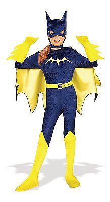 Mädchen Batman Kostüme (Rubies Gotham Mädchen Batgirl Batman Joker Harley Kinder Halloween Kostüm 882448)