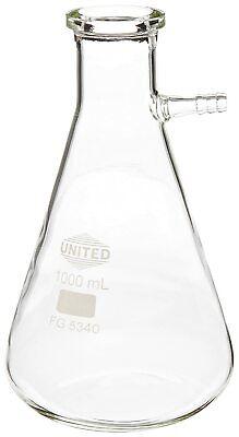 Clear Borosilicate Glass 1000 Ml Filtering Vacuum Flask Chemistry Lab Glassware