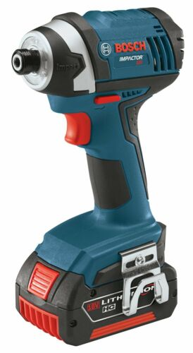 Bosch - 18 V 1/4 In. Hex Compact Tough Impact Driver w/ 2 Fat Pack Batteries