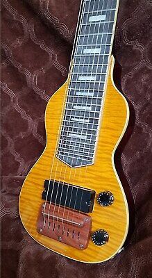 Lap steel 8 string with Flame maple top and back .Only one left! by Dillion