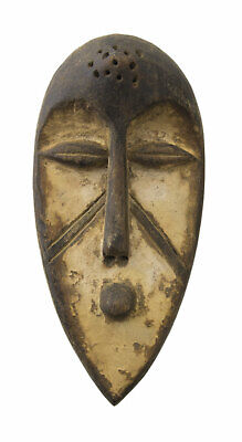 Mask Passport African Fang Gabon Wood 16cm Miniature Art First 16689
