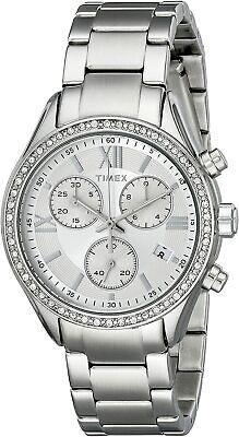Timex Women's Miami Bracelet Silver Chronograph Watch TW2P66800