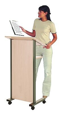 Wonderwall Mobile Lectern in Maple - Office, School, Exhibition, Presentations