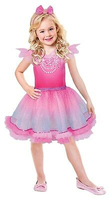 arbie Rosa Diamant Prinzessin Kostüm 3 - 10 Jahre (Rosa Barbie Kostüm)