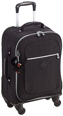 Kipling Yubin Spin 55 Trolley Bag 4 Wheeled Cabin Sized (Black)