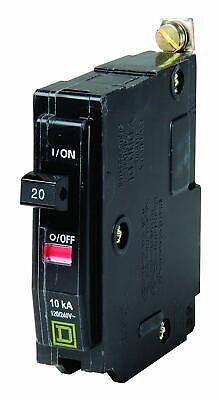 10 -square D Qob120 20 Amp Single Pole Bolt In Circuit Breakers Free Shipping