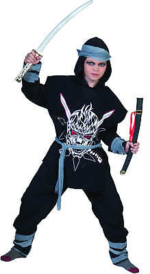 Ninja Zombie Halloween Karneval Fasching Kostüm 116-140-164