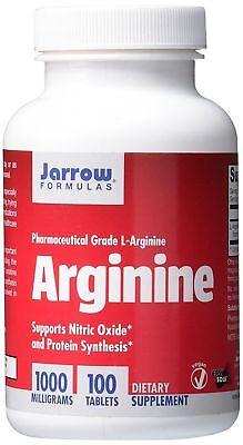 Jarrow Formulas L-Arginine Cardiovascular Health Support 1000 mg 100 Tabs New