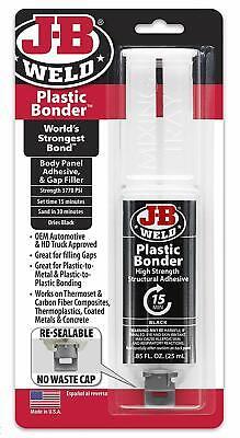 JB Weld Plastic Bonder High Strength Adhesive Extra Super Strong Glue Syringe