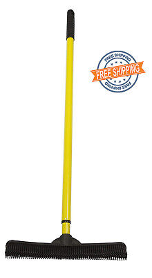 FURemover Broom, Natural Rubber Squeegee, Multi Surface & Pet Hair Remover
