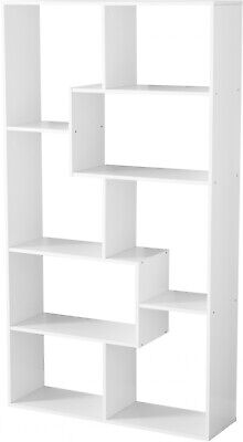 White 8-Cube Bookcase Modern Home Office Tall Wooden Storage Organizer Display - Tall Cube Storage