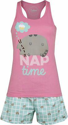 Pusheen Nap Time Frauen Schlafanzug Mehrfarbig   - Frau Katze Anzug