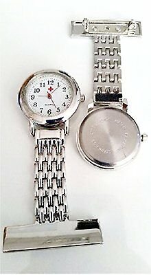 Brand New Nurse Silver Stainless Steel Quartz Fob Pocket Watch