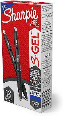 Sharpie S-gel Gel Pens Medium Point 0.7mm Blue Ink Gel Pen 12 Count