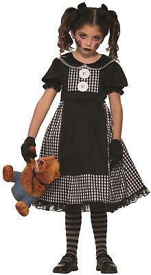 Mädchen Dunkel Besessen Stoffpuppe Halloween Horror Kostüm Kleid - Besessen Mädchen Kostüm