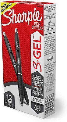 Sharpie S-gel Gel Pens Bold Point 1.0mm Black Ink Gel Pen 12 Count