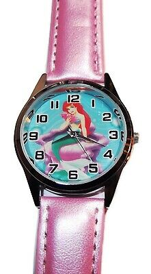 Arielle, die Kleine Meerjungfrau Quarz Uhrwerk Rosa Leder Armbanduhr ()