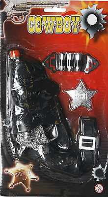 Cowboy Cowgirl Fancy Dress Toy Pistol, Gun, Holster, - Fancy Dress Gun Holster