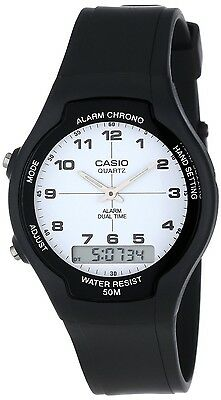 Casio AW90H-7B Mens Classic Digital Analog 50m Casual Watch Dual Time Alarm