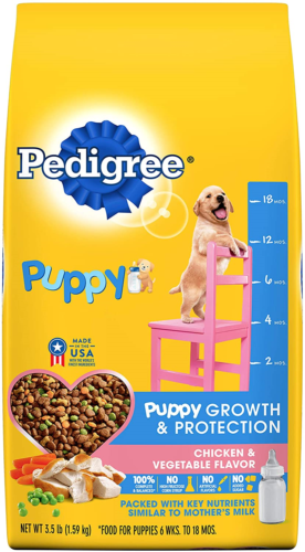 Pedigree Puppy Complete Nutrition Dog Food, 3.5 lb