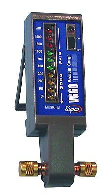 Supco Vg60 Electronic Vacuum Gauge - 50 To 5000 Micronled Display- Made In Usa